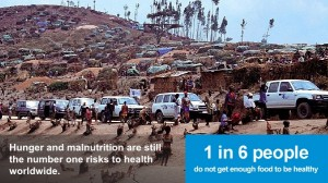 There are 1.02 billion undernourished people in the world today.