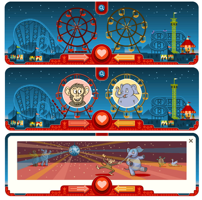 Google Doodle creates a 'wild' love connection