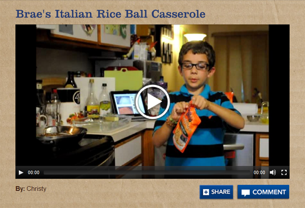 Vote for Brae! Uncle Ben's Cooking Program Contest