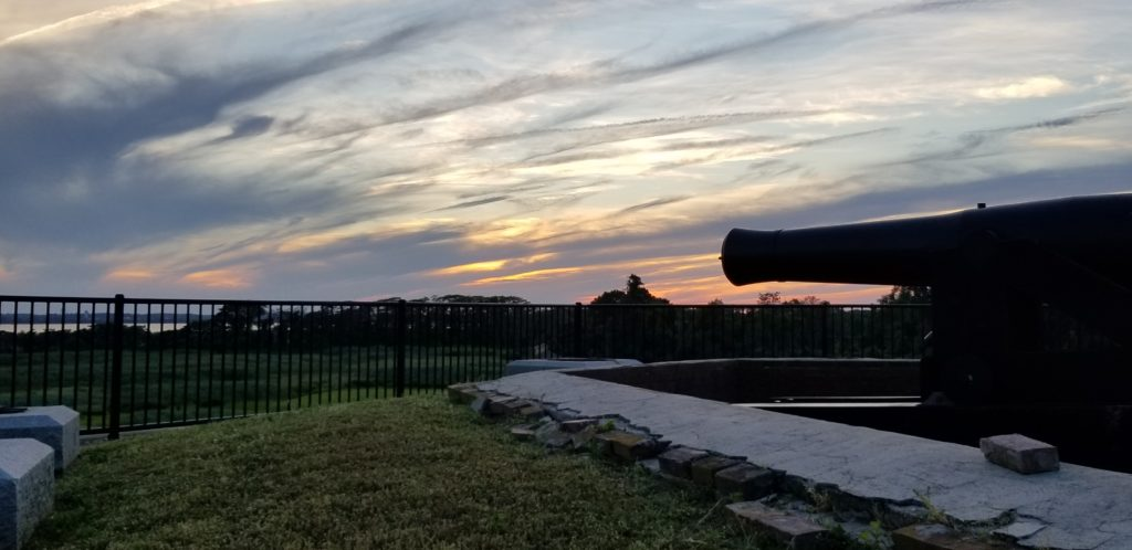 Rooftop photo from Fort Delaware