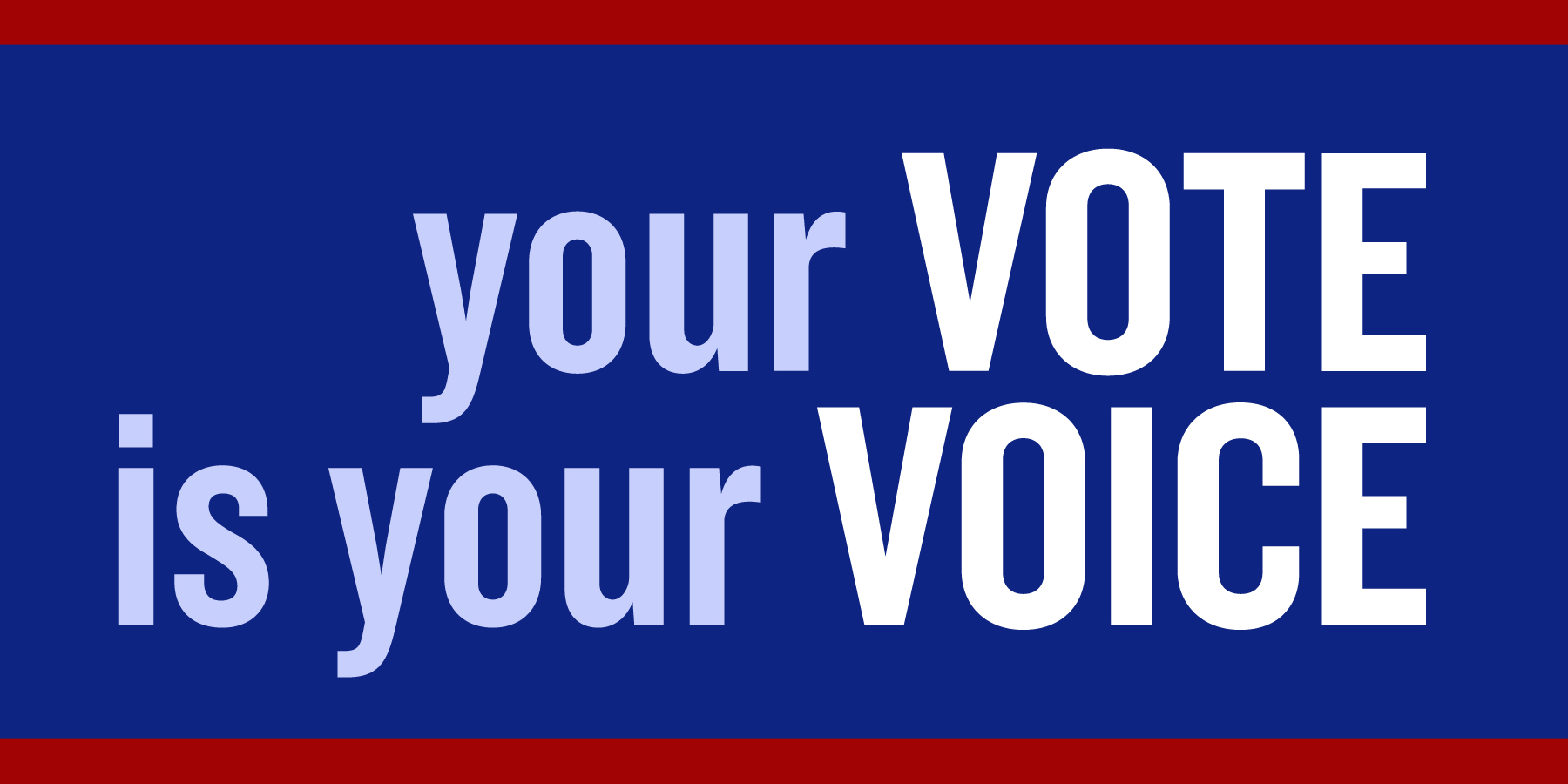 your voice is your vote