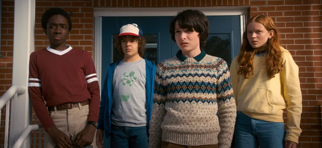 Dustin, Lucas, Mike and Max